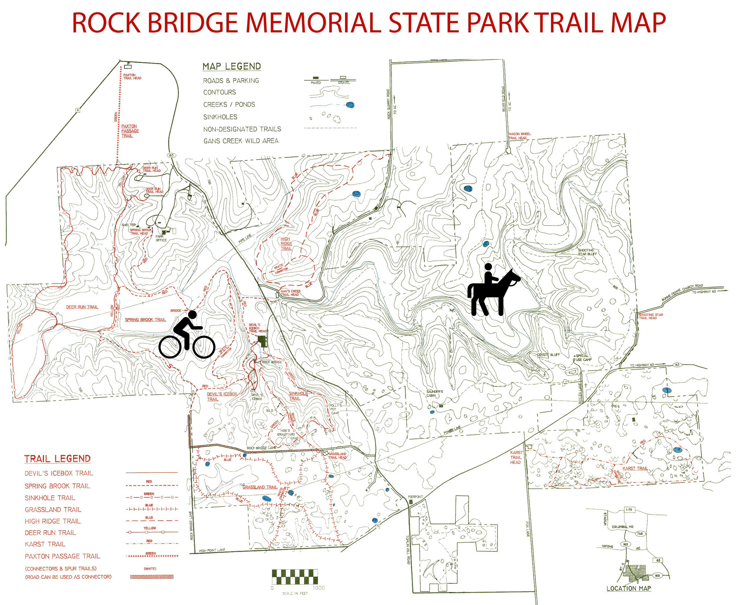 All sizes | Rock Bridge Memorial State Park Trail Map | Flickr