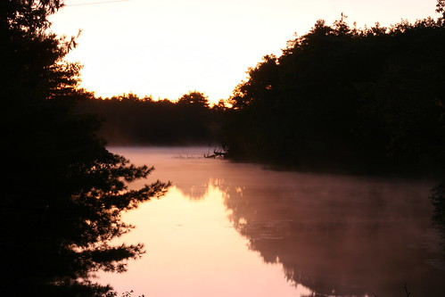 fog sunrise newhampshire nashua millpond minefallspark