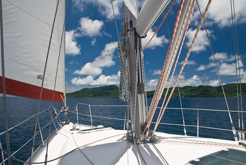 Carriacou Coast, with Sails, Mast, and Rigging | by Jason Pratt