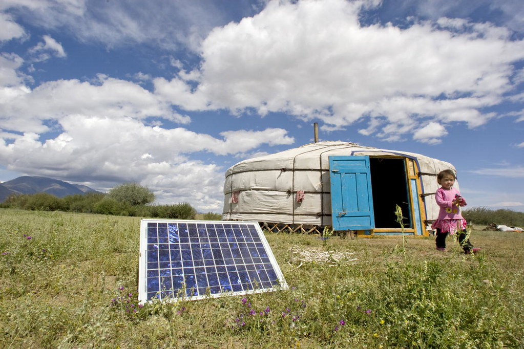 Mongolian Family Uses Solar Energy To Power Home A Family Flickr
