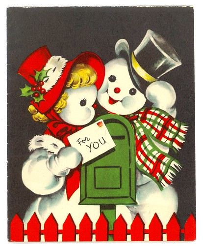 Vintage Mr & Mrs Snowman Christmas Card | by MadeByMike