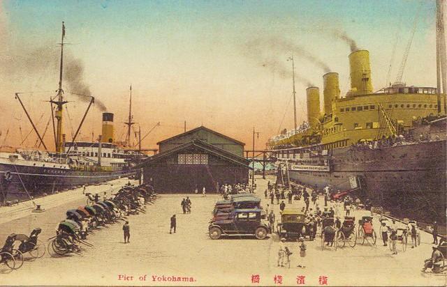 Yokohama- Pier- vintage postcard- 18-12-2009 21;04;19