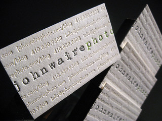 John Waire Photo Business Cards | by dolcepress