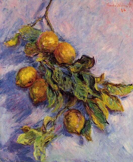 W 888 - Claude Monet: Branch bearing lemon fruits (1884)