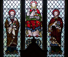 Christ in Majesty with St Peter and St Paul
