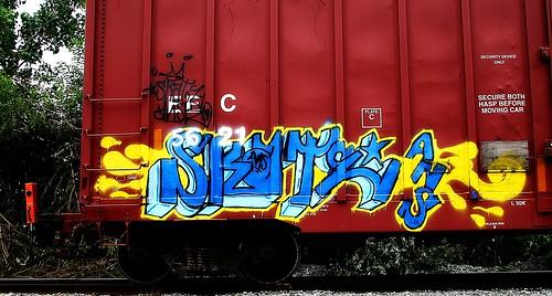 geotagged graffiti kentucky tag tracks tags tagged railcar skate rails parked boxcar graff graphiti ans eec trainart westernkentucky paintedtrain railart owensborokentucky ansr platec csxtrainyard paintedrailcar taggedrailcar geo:lat=37768442 geo:lon=87093537