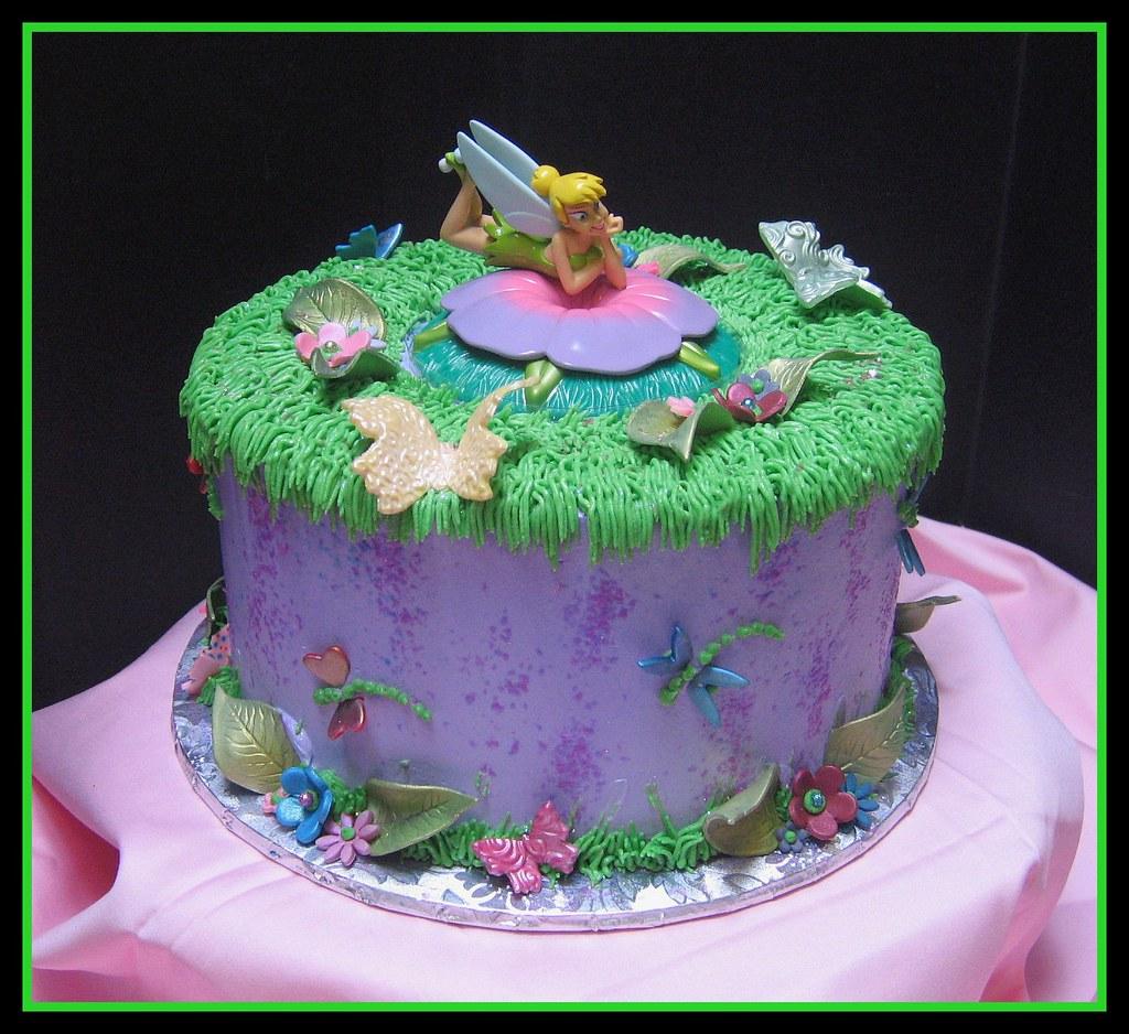 Fantastic Tinkerbell Birthday Cake Grace Tari Flickr Funny Birthday Cards Online Alyptdamsfinfo