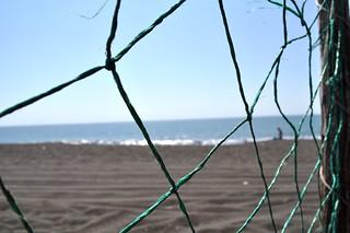 black beaches of Monterrico