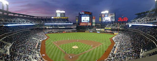 Citi Field Twilight (pano from behind home plate)   by Eric Kilby
