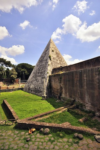 pyramid of cestius. Protestant Cemetery. Rome | by davetonkin