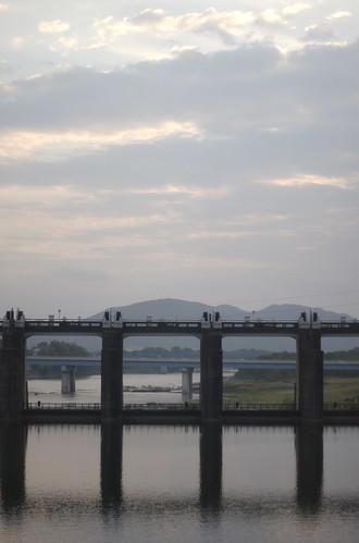 sunset japan train nikon dam gifu barrage nikkor50mmf14 d40