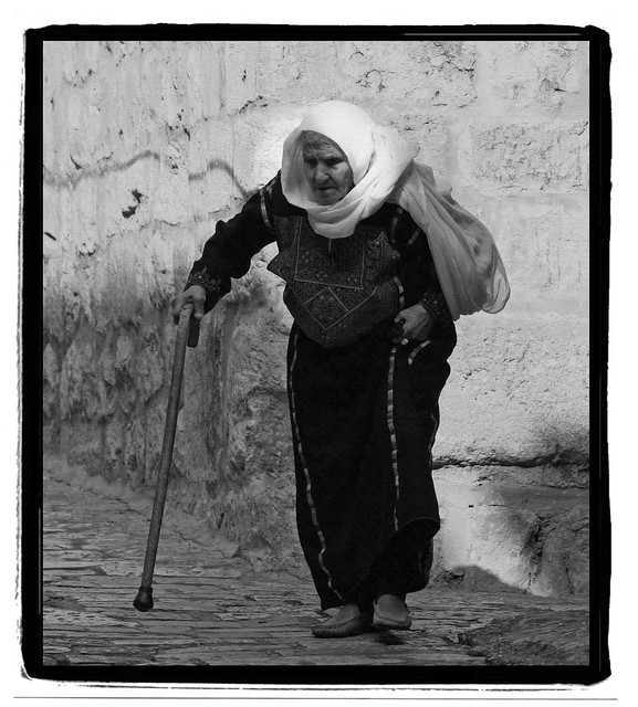 Old mother Sarah on her way to the Moria Mountain