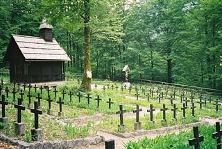 Military cemetery at Ukanc, Slovenia - 13 June 2004