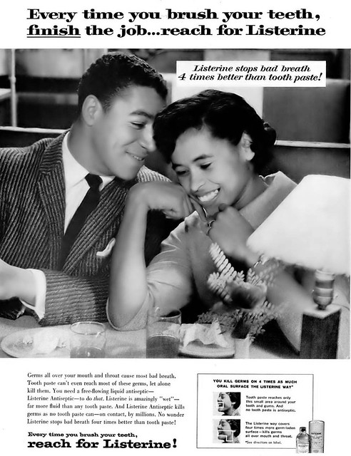 Listerine Vintage Advertisement - Ebony Magazine, May, 1960
