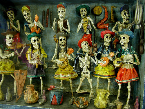 Day of the Dead Display(right front table detail)   by carmichaellibrary