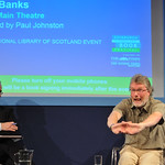 Iain Banks | Iain Banks on stage at Edinburgh International Book Festival