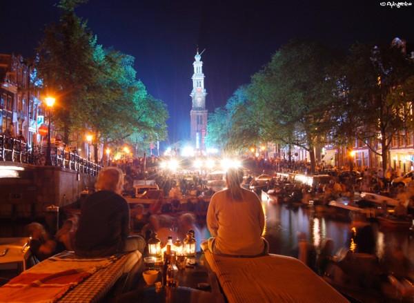 Prinsengrachtconcert at night