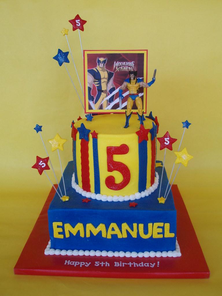 X-Men Wolverine Birthday Cake | Last year Emmanuel loved Bat… | Flickr