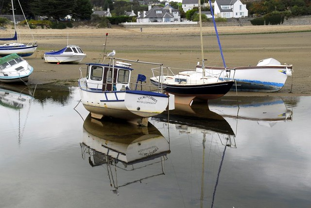 low tide north Wales coast