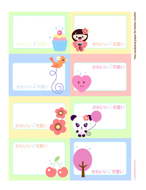 image about Printable Cardstock Tags titled Printable Kawaii Tags On your own can print and create All those towards yo