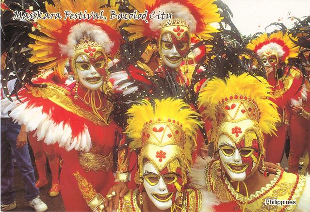 Masskara Festival Philippines Postcard