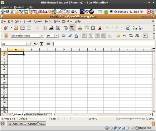 OpenOffice org Calc in BNI-Ubuntu | I've never used spreadsh