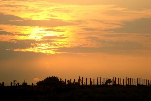 sunset sun india clouds evening kerala hills cochin kochi