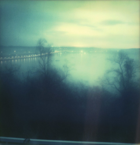 hudson river tappanzee bridge trees nyack jeanshouse film instant theimpossibleproject color600 slr680