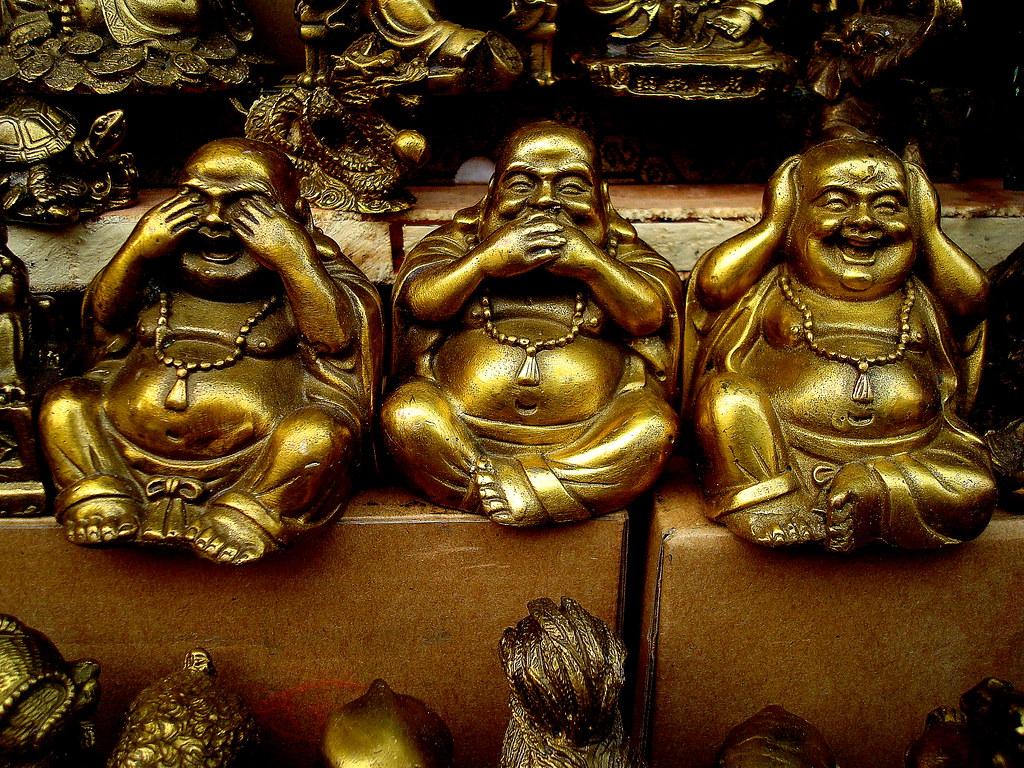 See No Evil Hear No Evil Speak No Evil Three Buddhas In Flickr