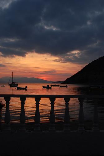 sea sun slr silhouette clouds sunrise landscape nikon balcony greece dslr tolo d80 nikond80