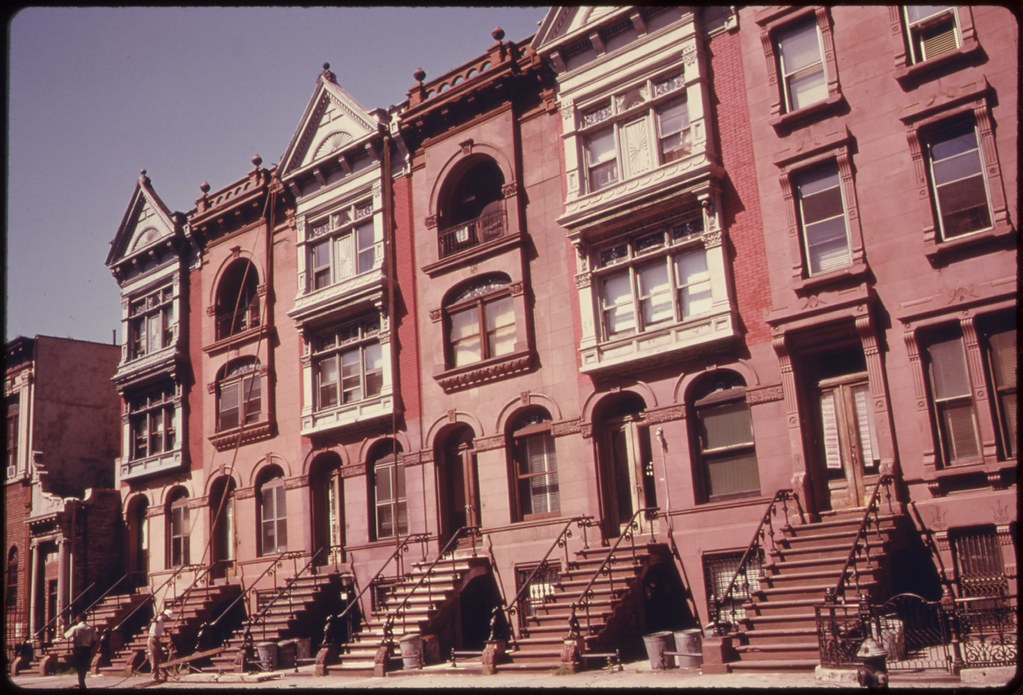 Turn of the Century Brownstone Apartments Being Painted an ...