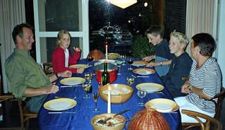 Dinner with the de Jongs, Wageningen, Netherlands, 2002