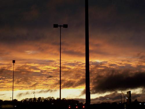 sunset wild sky orange nature weather silhouette yellow clouds lights evening stormy the4elements rcvernors barboursvillewv huntingtonmall endofthestorm copyright©2009allrightsreserved rickchildersdigitalmedia