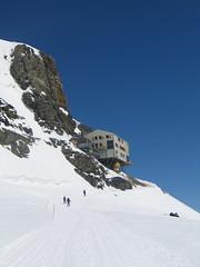 …na muřích nožkách. Jmenuje s Mönchjochshütte a leží ve výšce 3600 m.