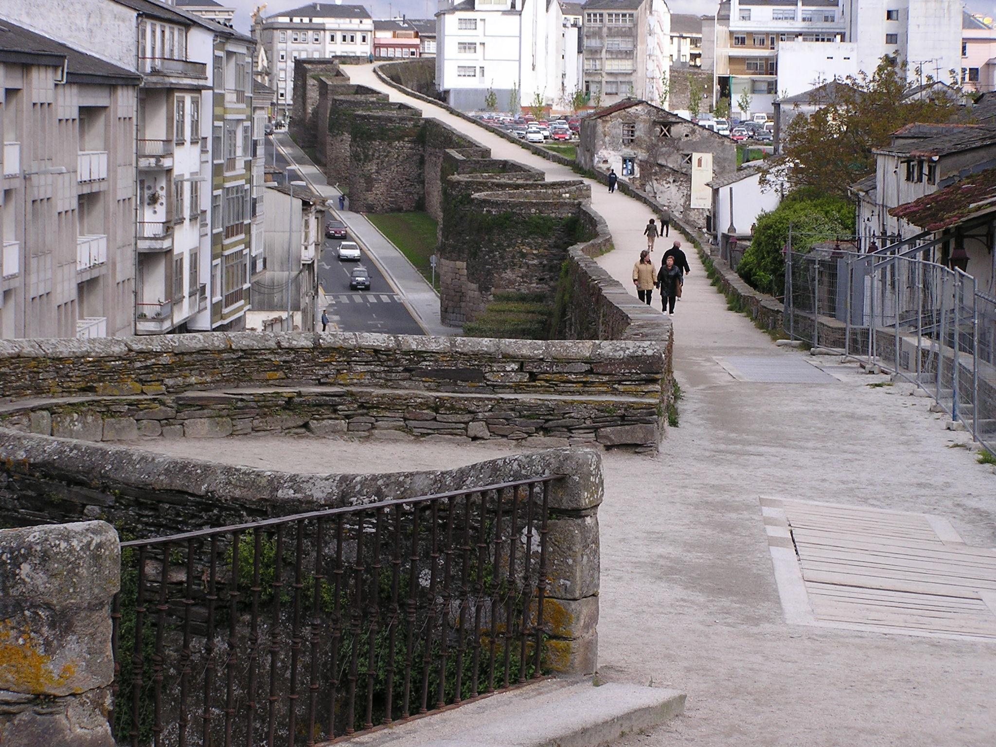Lugo adarve de la Muralla