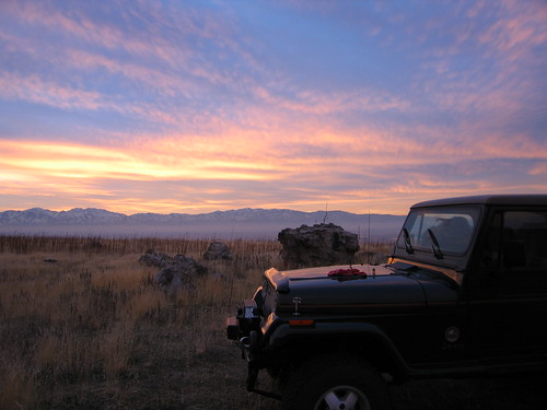 sunset sky usa mountains utah jeep tooele myjeep