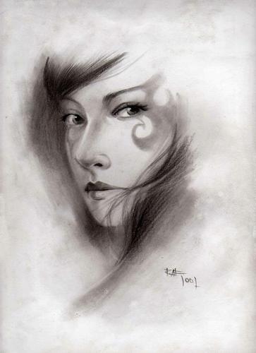 Dibujo Lapiz Carboncillo Raf Arte Flickr