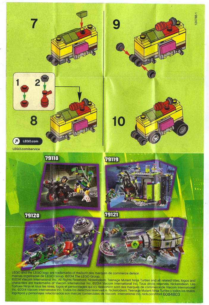 "LEGO TEENAGE MUTANT NINJA TURTLES :: ""Mikey's Mini-Shellraiser"", ..instructions ii  (( 2014 )) by tOkKa"