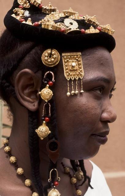 Jeune femme Songhaï. Mali