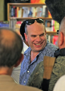 David Simon at a bookstore appearance | by mathowie