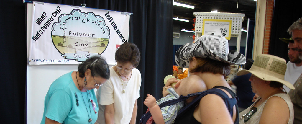 Polymer Clay Demo at the Oklahoma State Fair