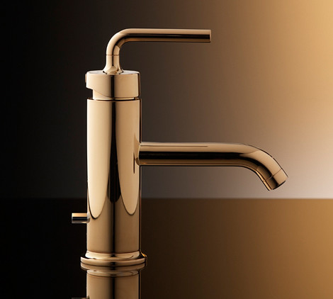 kohler-purist-single-control-lavatory-faucet-polished-gold | by colorhome