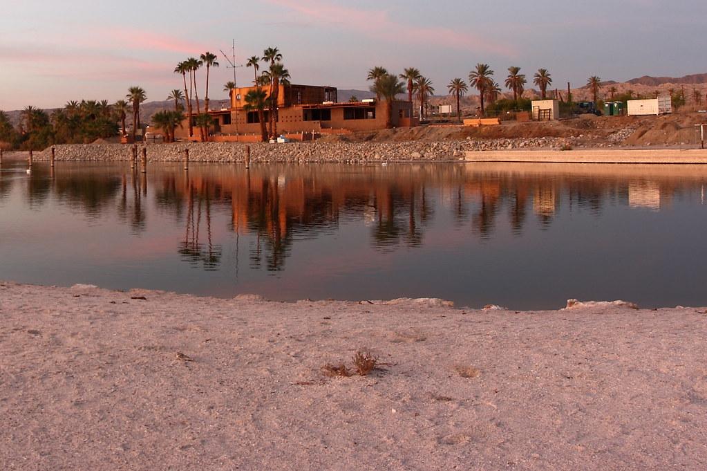 Reflection. Salton Sea's North Shore Yacht Club