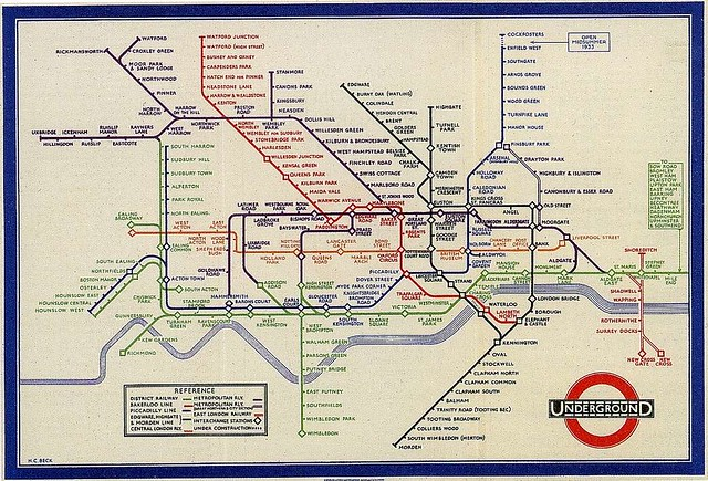 London Underground Subway Map.Henry Beck S Map Design In 1933 For London Underground Sub Flickr