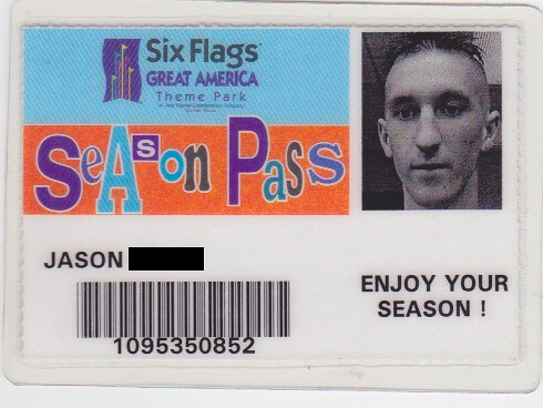 six flags great america season pass (pre 1997) | six flags g… | Flickr