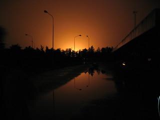 Burning night
