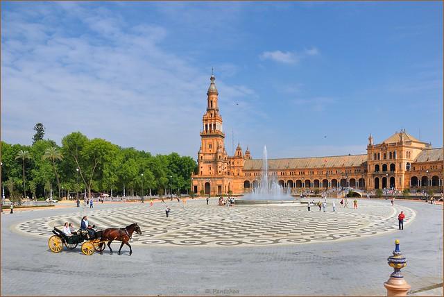 Sevilla :  Plaza de España - 1   -  EXPLORE