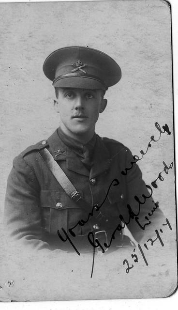 Lieutenant Gerald Woods, Paschendale 25th December 1917