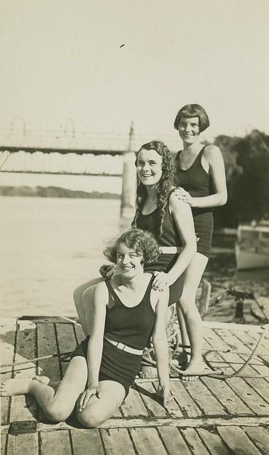 Bathing belles, Ellen Smith, Beryl Price and Lorna Smith, ca. 1930