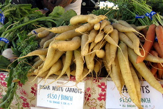 San Francisco - Embarcadero: Ferry Plaza Farmers Market - Lunar White Carrots   by wallyg